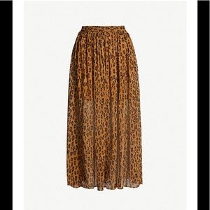 Free People Cheetah Midi Sheer Size M